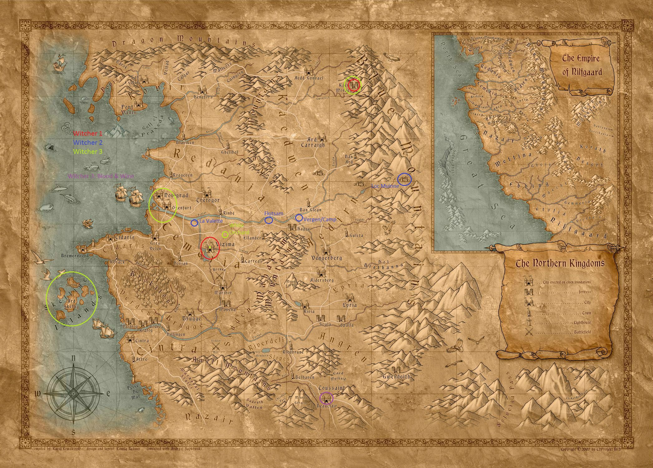 The Witcher Map